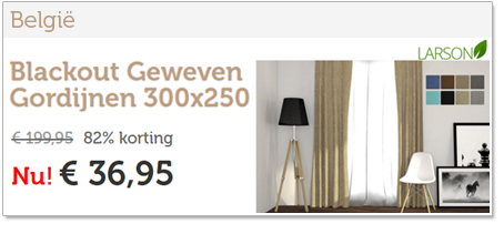 Blackout Geweven Gordijnen 150x250 | Haak- of Ringbevestiging ...