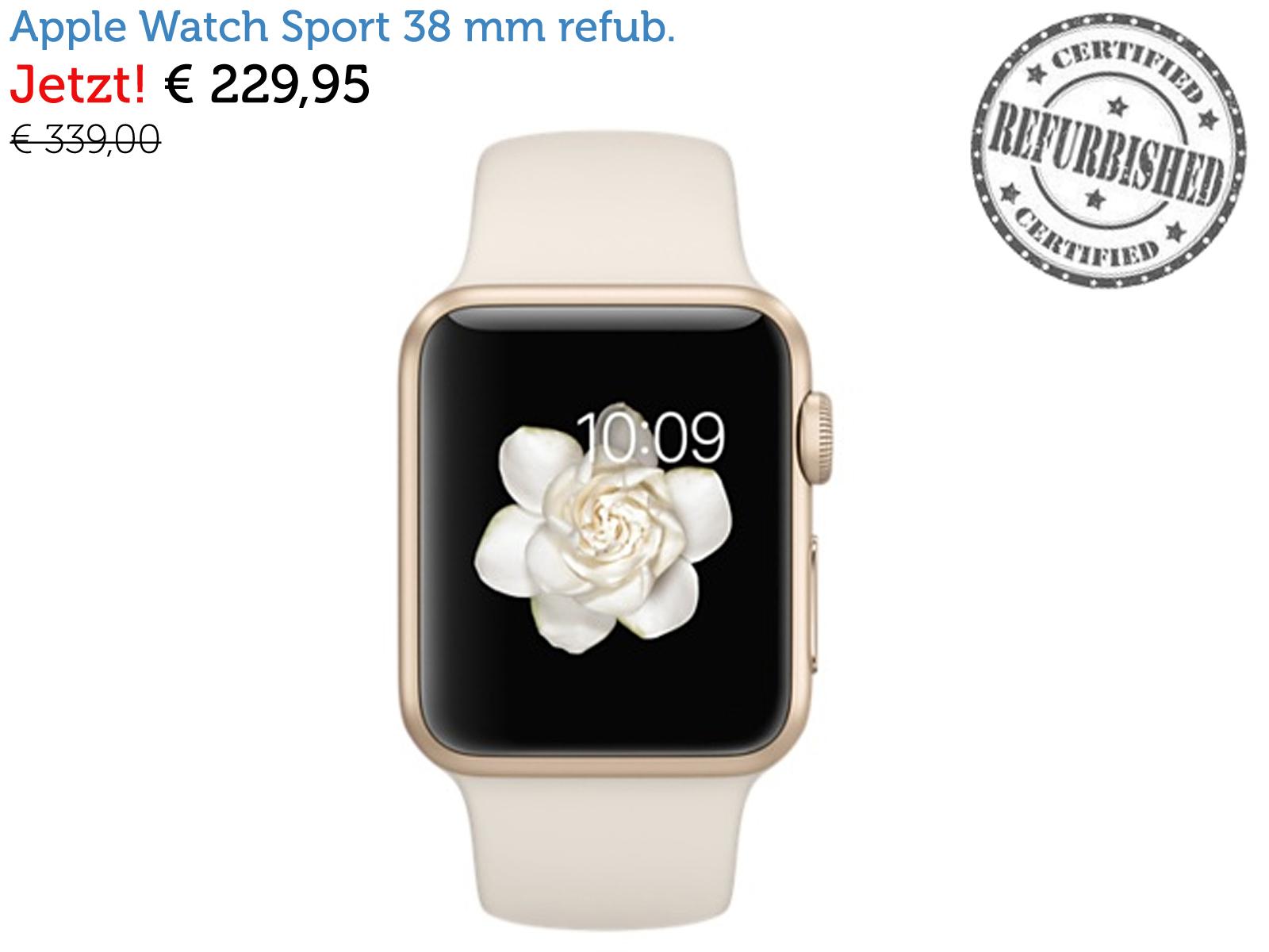 apple watch sport 42 mm offene verpackung refurbished von apple internet 39 s best online. Black Bedroom Furniture Sets. Home Design Ideas